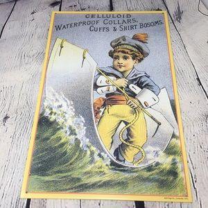 Retro Vintage Inspired Tin Sign Sailor Boy Tailor
